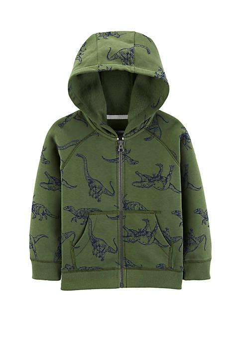 Carter's® Toddler Boys Zip Dino Hoodie