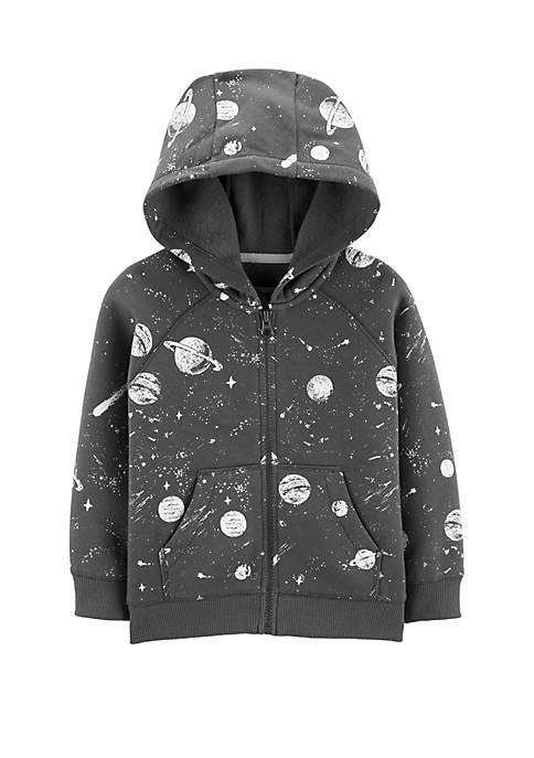 Carter's® Toddler Boys Space Zip Up Fleece Lined