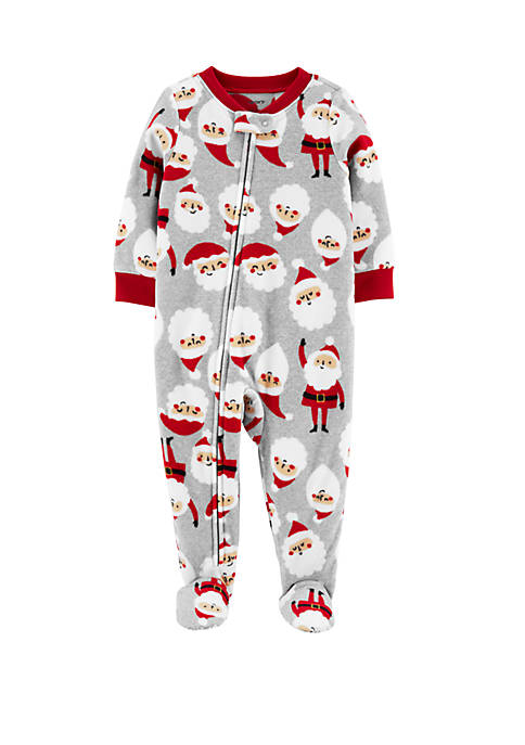 Carter's® Toddler Boys Santa Fleece Footie Pajamas