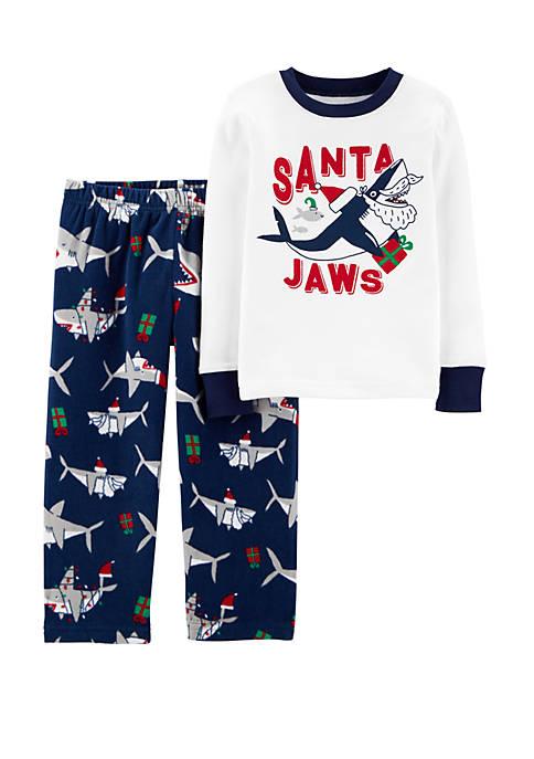 Carter's® Toddler Boys 2 Piece Santa Shark Snug