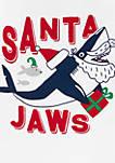 Toddler Boys 2 Piece Santa Shark Snug Fit Cotton and Fleece Pajama Set