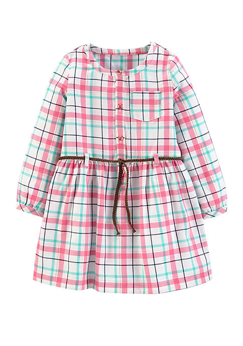 Carter's® Toddler Girls Plaid Twill Dress