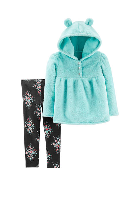Carter's® Toddler Girls 2 Piece Fuzzy Pullover and