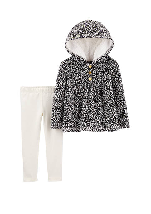 Carter's® Toddler Girls 2 Piece Leopard Pullover &