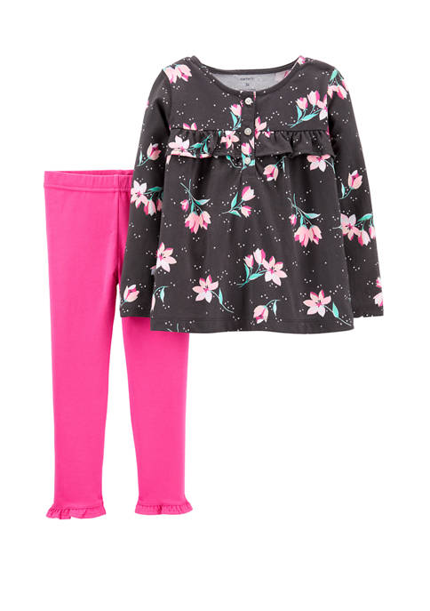 Carter's® Toddler Girls 2 Piece Floral Top and