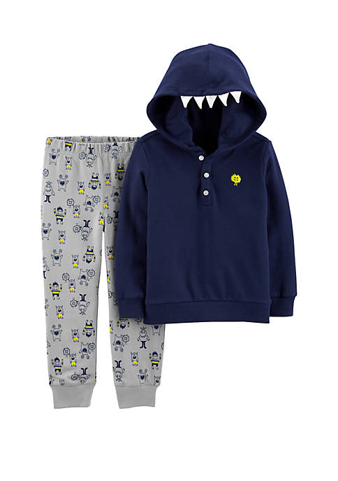 Carter's® Toddler Boys 2 Piece Monster Hoodie and