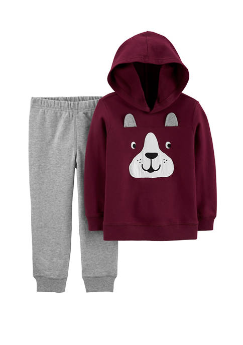 Carter's® Toddler Boys 2 Piece French Bulldog Hoodie