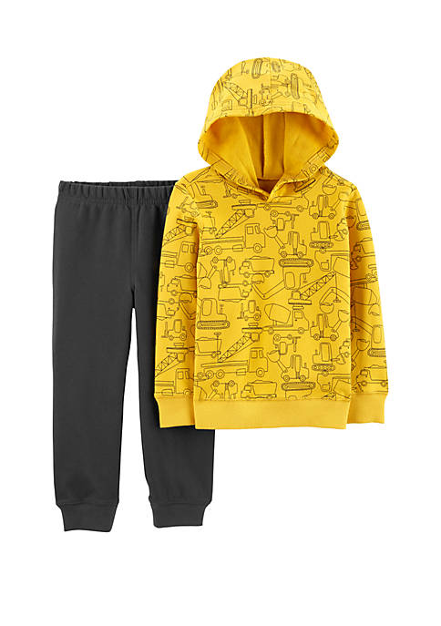 Carter's® Toddler Boys 2 Piece Construction Pullover Hoodie