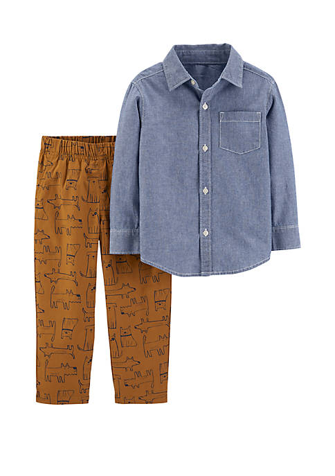 Carter's® Toddler Boys 2 Piece Chambray Button Front
