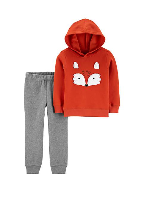Carter's® Toddler Boys Fox Fleece Pants Set