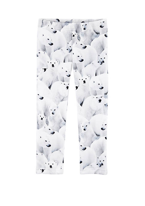 Carter's® Toddler Girls Polar Bear Leggings