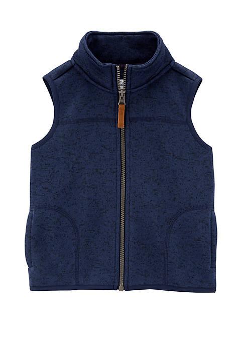 Carter's® Toddler Boys Zip Up Sherpa Vest