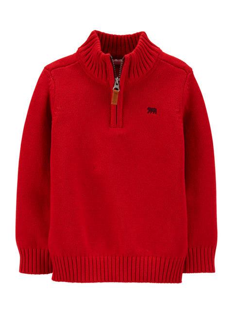 Carter's® Toddler Boys Half Zip Pullover Sweater