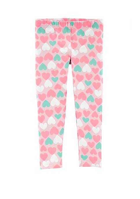 Carter's® Toddler Girls Heart Leggings