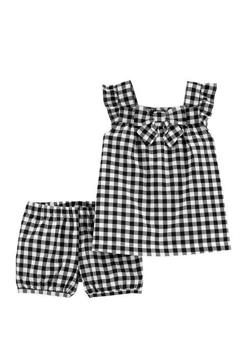 Carter's® Toddler Girls 2 Piece Gingham Top &