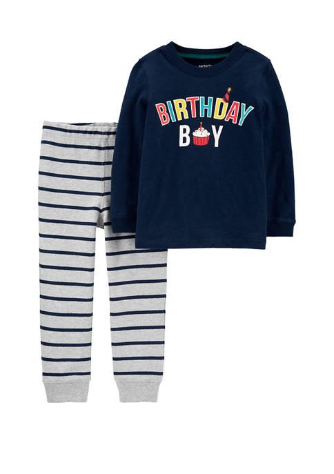 Carter's® Toddler Boys 2 Piece Birthday Boy Slub