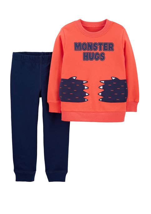 Carter's® Toddler Boys 2 Piece Monster Hugs Pullover