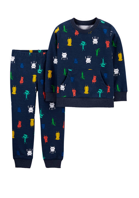 Carter's® Toddler Boys 2 Piece Monster Sweatshirt and