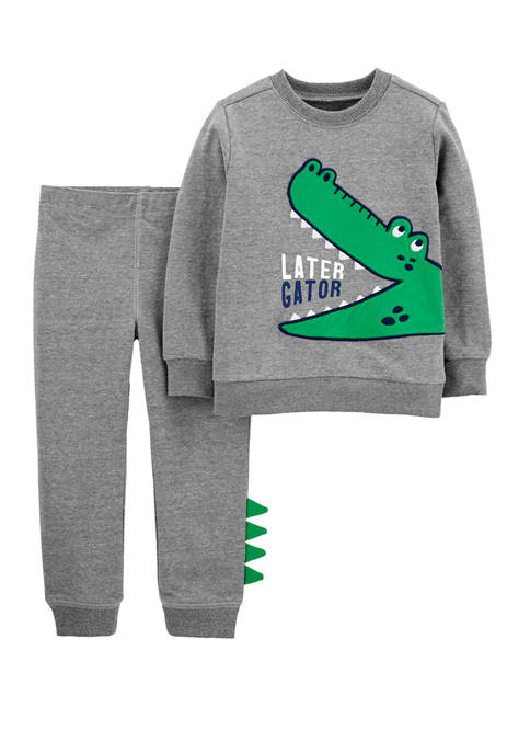 Carter's® Toddler Boys 2 Piece Alligator Sweatshirt and