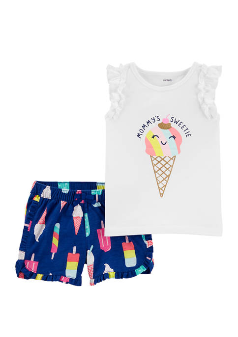 Carter's® Toddler Girls 2 Piece Flamingo Flutter Graphic