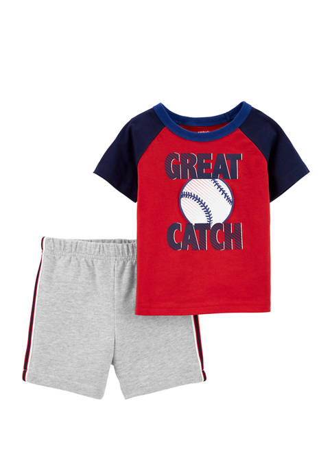 Carter's® Toddler Boys 2 Piece Baseball Jersey T-Shirt