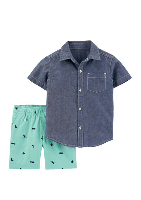 Carter's® Boys 4-7 2 Piece Chambray Button Front