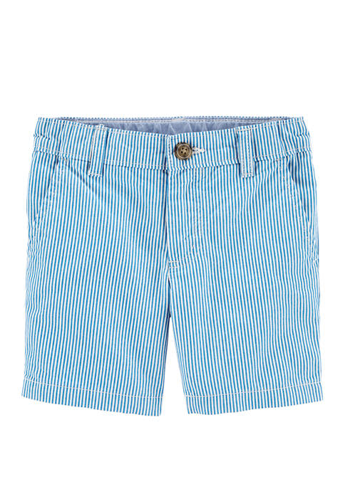 Carter's® Boys 4-7 Striped Flat Front Shorts