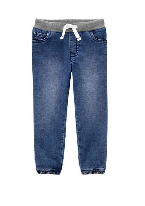 Carter's® Toddler Boys Pull On Knit Denim Joggers