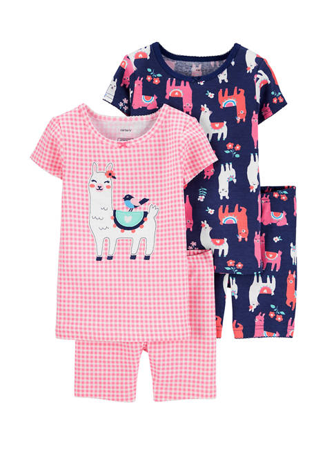 Carter's® Toddler Girls 4 Piece Llama Snug Fit