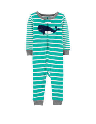 Carters Baby Boys 2T-5T One Piece Snug Fit Cotton Pajamas 2T, Gray//Whale