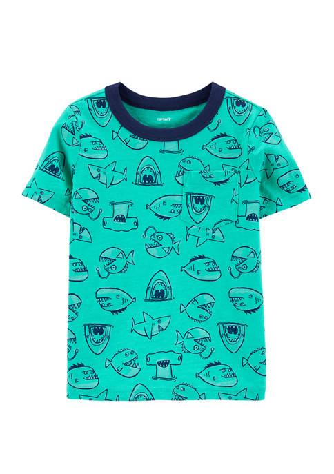 Carter's® Toddler Boys Fish Pocket Slub T-Shirt