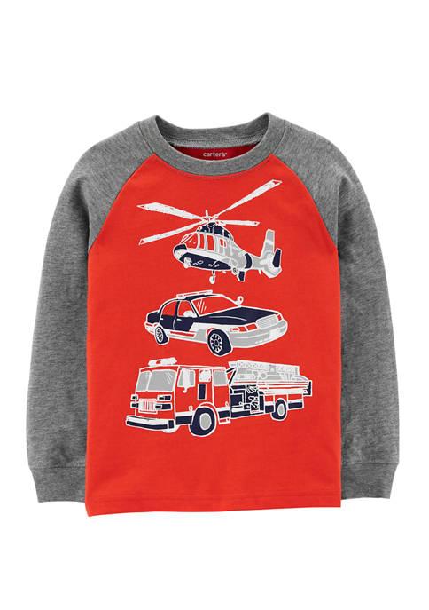 Carter's® Toddler Boys Vehicle Raglan Sleeve T-Shirt