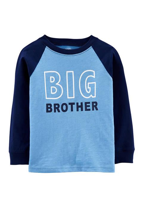 Carter's® Toddler Boys Big Brother Raglan Slub Jersey