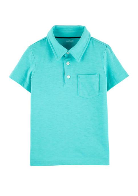 Carter's® Toddler Boys Slub Jersey Polo