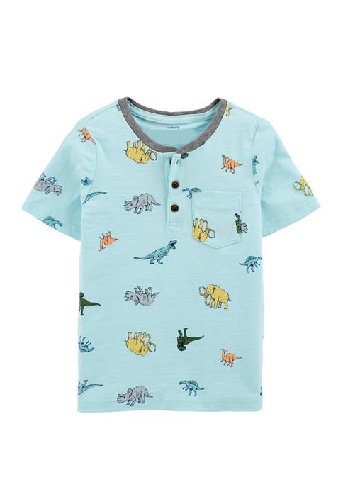 Carter's® Boys 4-7 Dinosaur Print Henley T-shirt