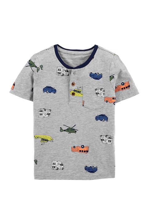 Carter's® Boys 4-7 Vehicle Print Henley T-shirt