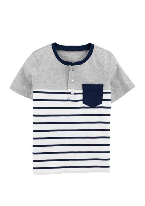 Carter's® Toddler Boys Striped Pocket Henley T-Shirt