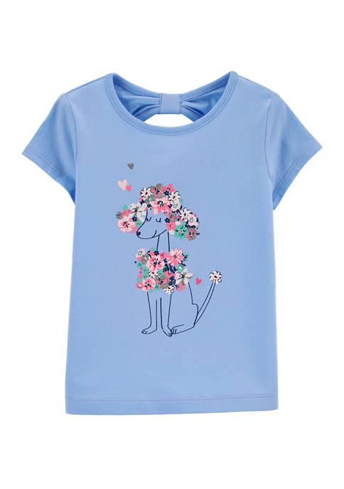 Carter's® Toddler Girls Blue Poodle Top