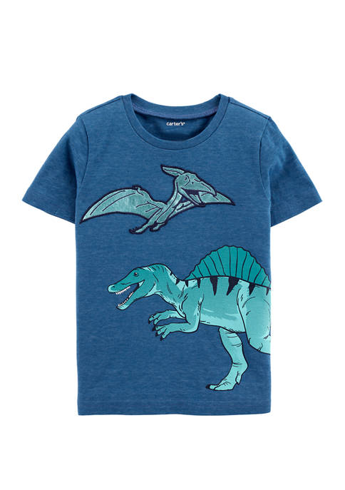 Carter's® Toddler Boys Dinosaur Snow Yarn Jersey Graphic
