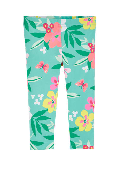 Carter's® Toddler Girls Tropical Floral Capri Leggings