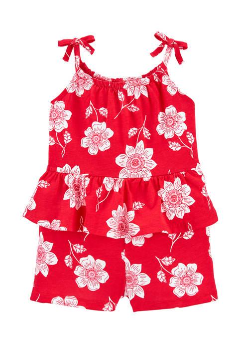 Carter's® Toddler Girls Floral Peplum Romper