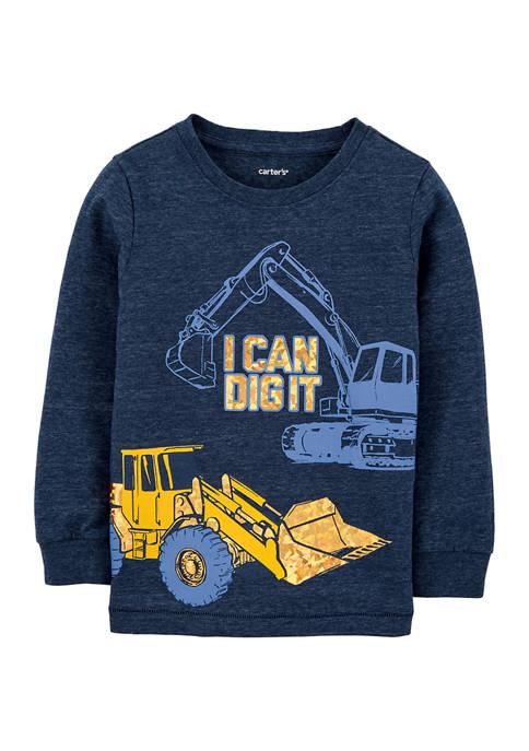 Carter's® Toddler Boys Construction Snow Yarn T-Shirt