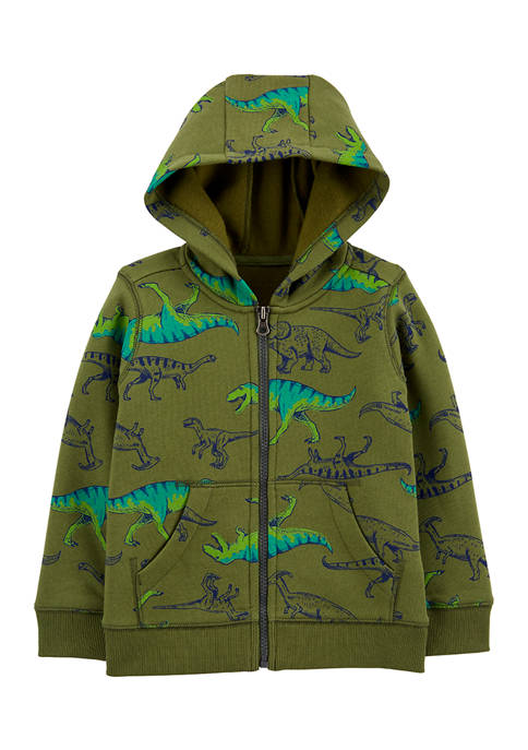 Carter's® Toddler Boys Dinosaur Zip-Up Fleece-Lined Hoodie