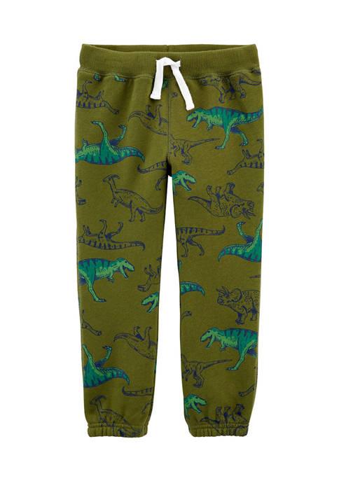 Carter's® Toddler Boys Dinosaur Pull-On Fleece Pants
