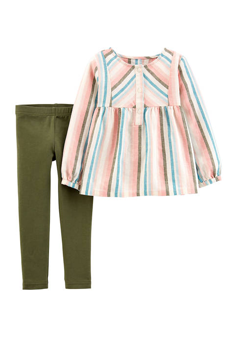 Carter's® Toddler Girls Multi Stripe Shirt and Legging