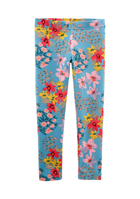 Carter's® Toddler Girls Green Floral Leggings