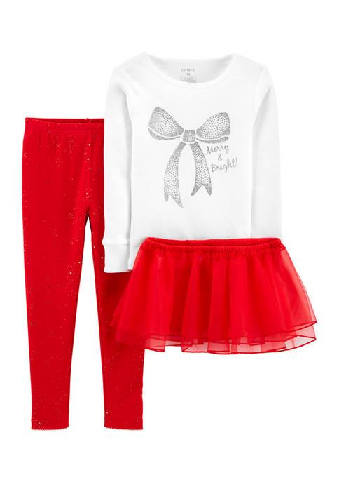 Carter's® Toddler Girls 3-Piece Tutu Pajamas Set