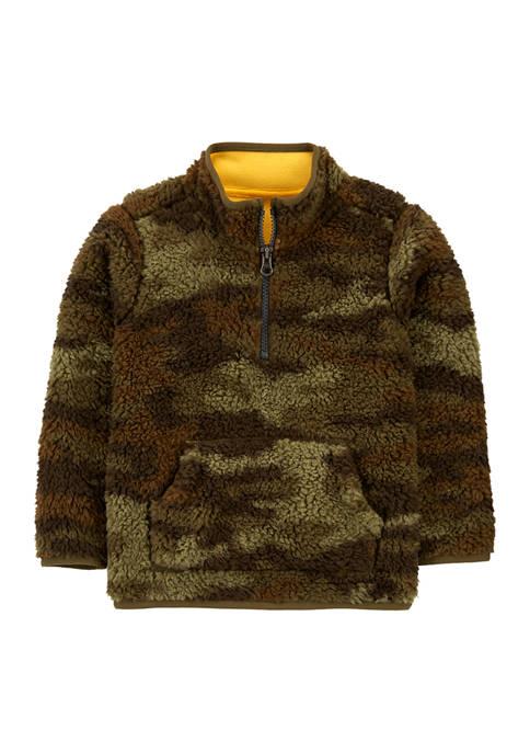 Carter's® Toddler Boys Camouflage Half Zip Mock Neck