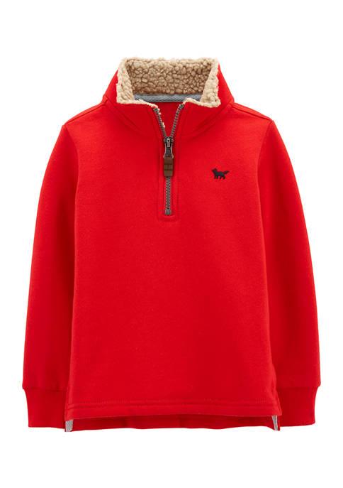 Carter's® Toddler Boys Half Zip Mock Neck Pullover