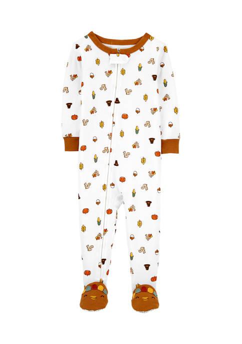 Carter's® Toddler Girls 1-Piece Thanksgiving 100% Snug Fit